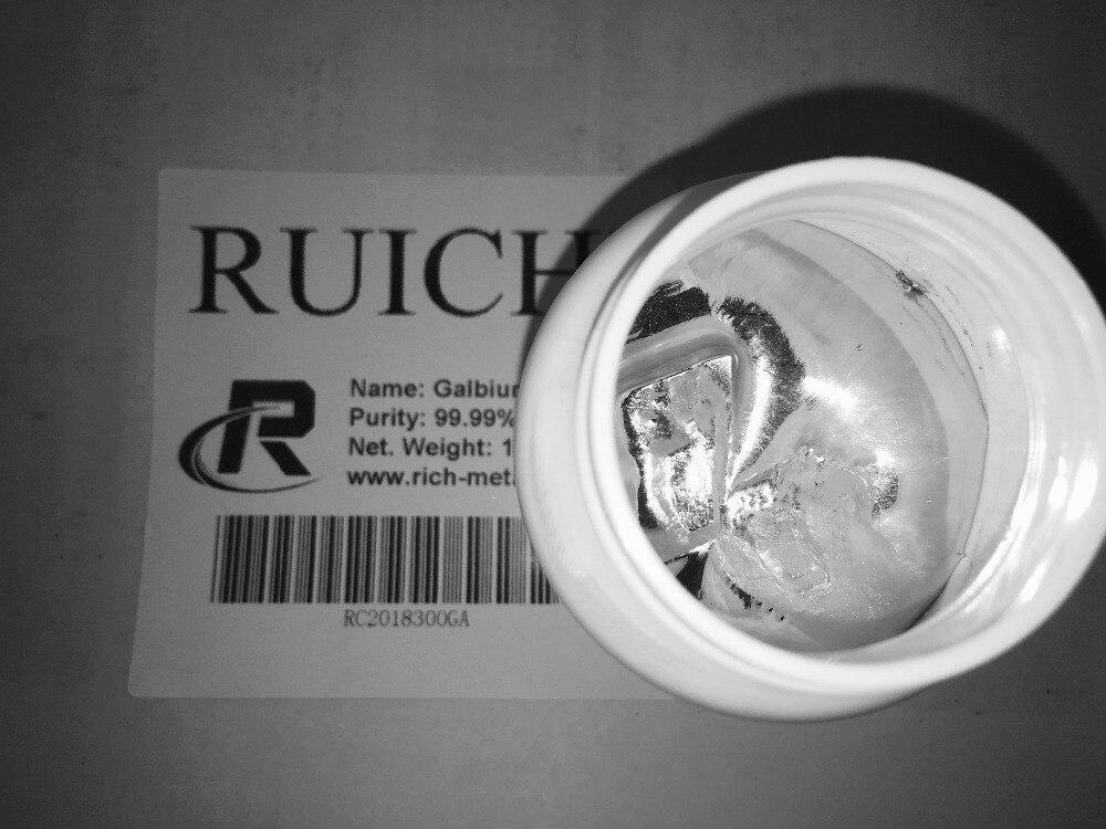 """גליום מתכת 1000 grams, 99.99% טהור, RUICHI, על ידי צ אנגשה עשיר ברזליות ושות, בע""""מ"""