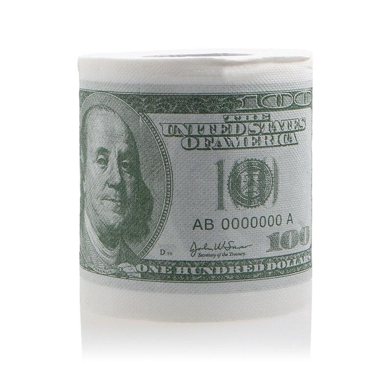 Envío gratis 1 unidad divertida billete de cien dólares rollo de papel higiénico rollo de dinero $100 regalo de Novela