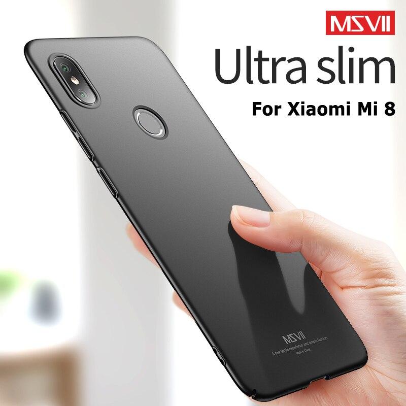 MSVII Cases For Xiaomi Mi 8 Pro SE Case Slim Frosted Cover For Xiaomi Mi8 Lite Case Hard PC Cover Fo
