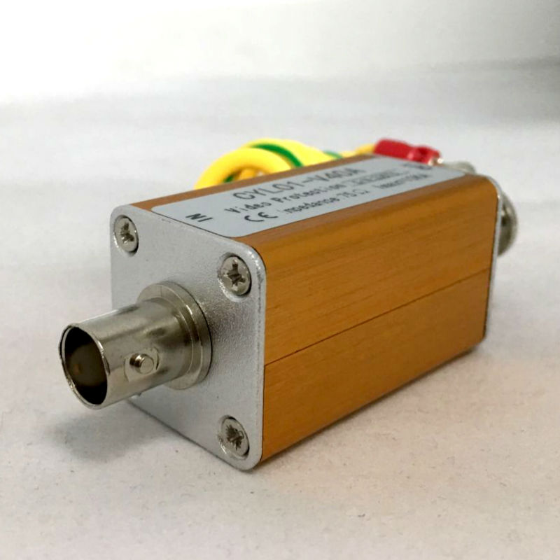 Yispo {10 Uds} supresor de sobretensiones BNC macho señal video Protector Thunder lightning para cámara analógica coaxial AHD/tvi/cvi