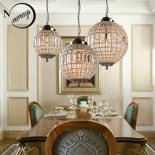 Retro Vintage Royal Impero abito di Sfera di Stile Grande Led di Cristallo Moderna Lampada Lampadario Lustri Luci E27 Per Soggiorno camera da letto bagno