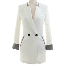 Small suit new ladies spring and autumn jacket Korean version of slim long casual long sleeve suit j