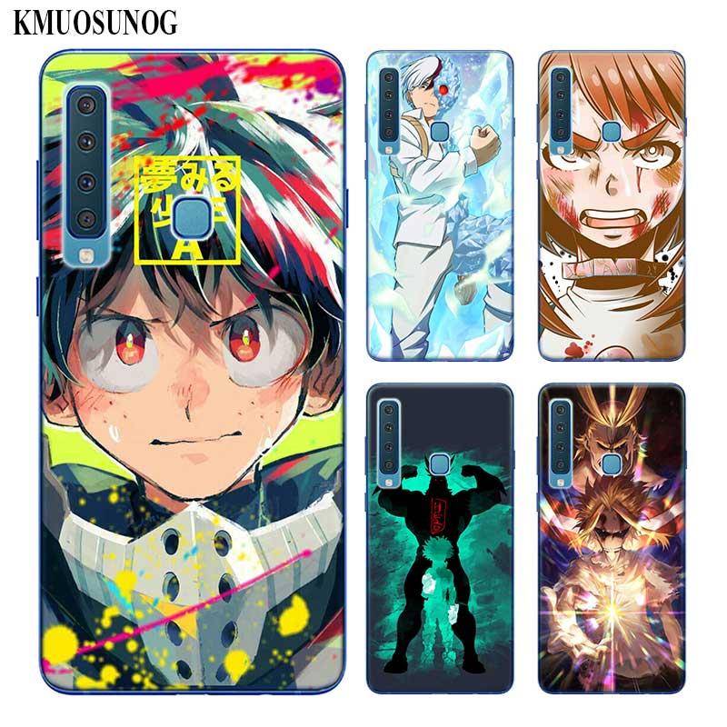 Caja del teléfono de silicona anime Academia My Hero para Samsung Galaxy A50 A30 A10 A8 A7 A6 A5 A3 Plus 2018 de 2017 de 2016