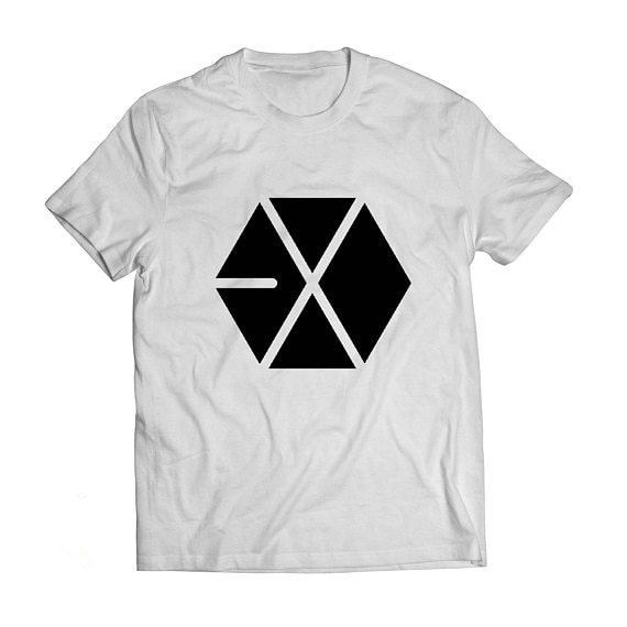 Logotipo Exo, camiseta Unisex de manga corta de Corea, camiseta moletom do tumblr, camiseta Unisex con logotipo Exo, camisetas Casuales