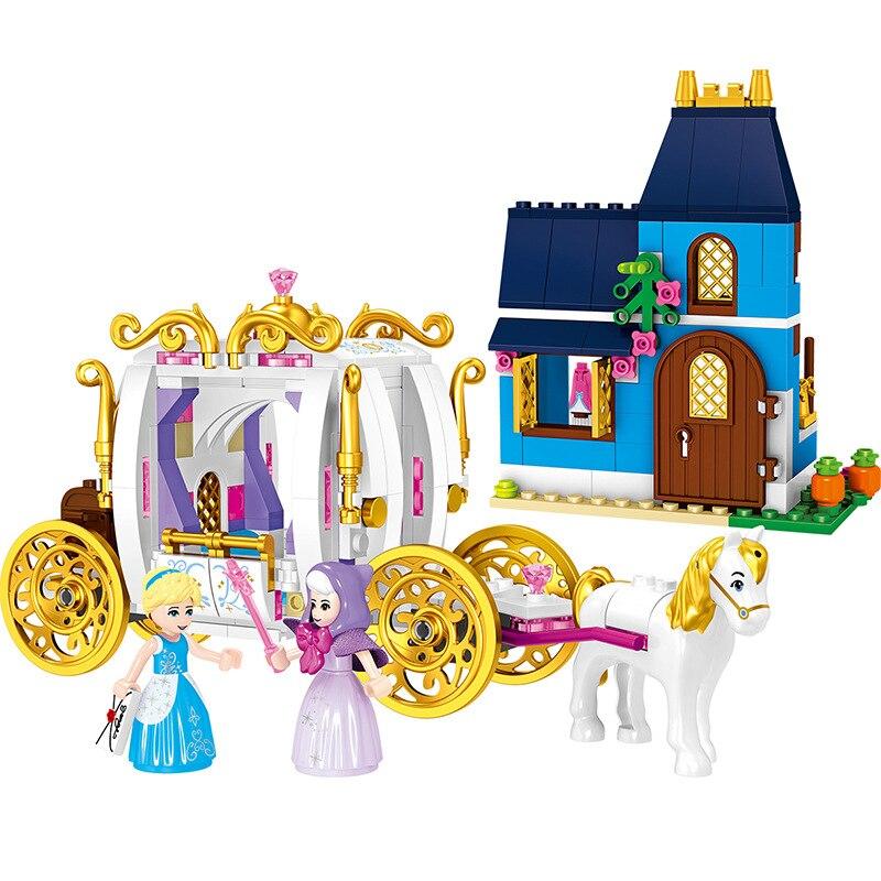 Decool técnica 70219 meninas amigos cinderela noite mágica princesa carruagem blocos de construção brinquedos para crianças juguetes b162