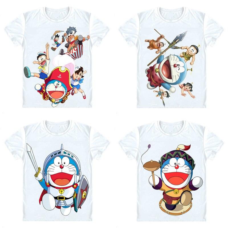 Футболки Doraemon, рубашки с короткими рукавами, Аниме Манга Fujiko Fujio, рубашка для костюмированной вечеринки с изображением дораэмона нобита ноби шизуки Минамото