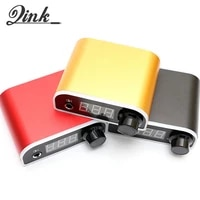 qink mini colorful tattoo power supply with power adaptor for tattoo permanent makeup tools led light tattoo supply