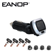EANOP CT006 12V voiture TPMS   Système de surveillance de la pression des pneus, alarme de sécurité pliable LCD pour pneus avec chargeur USB rapide