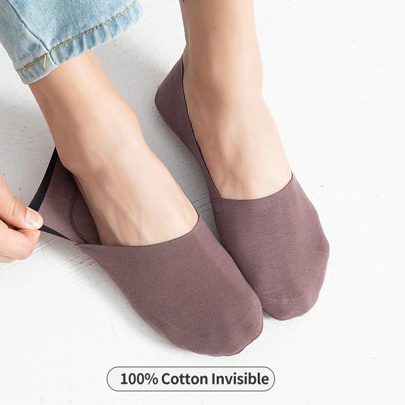 100% хлопковые мягкие невидимые мужские носки тонкие короткие мужские носки с отворотом силикагель противоскользящие Нескользящие мужские ...
