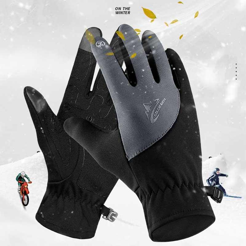 Зимние лыжные перчатки для сенсорного экрана, теплые ветрозащитные теплые перчатки с подогревом для сноуборда, водонепроницаемые варежки ...