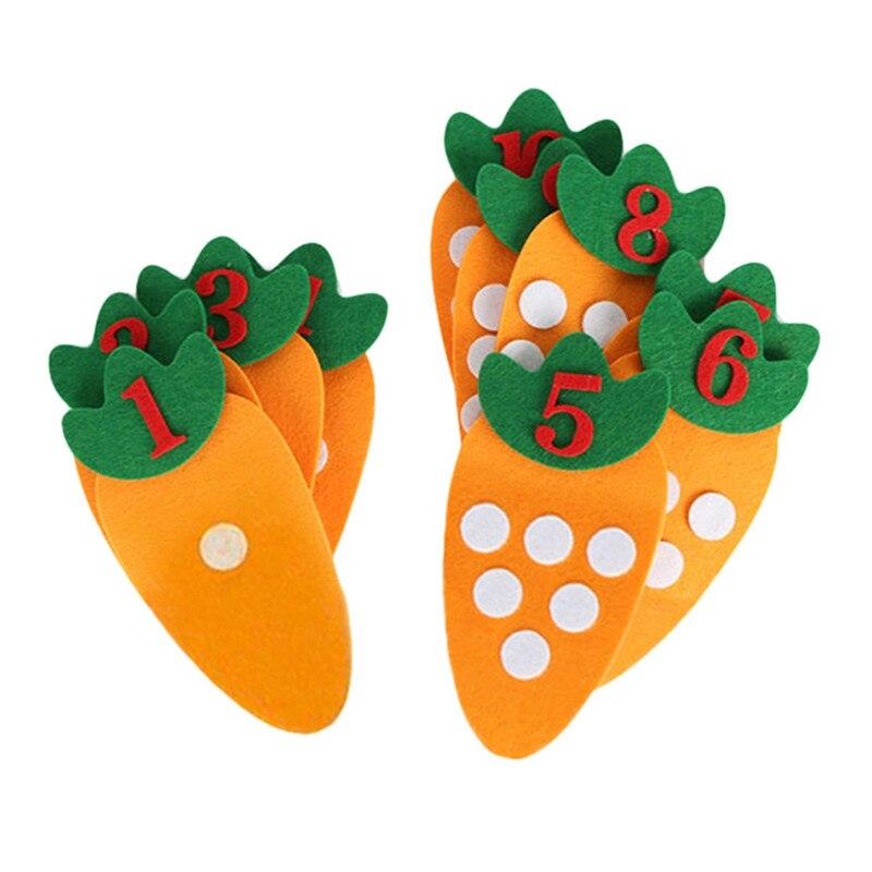 1 conjunto não-tecido cenoura digital puzzle artesanal diy brinquedos criativos para crianças jardim de infância educação precoce auxiliares brinquedos