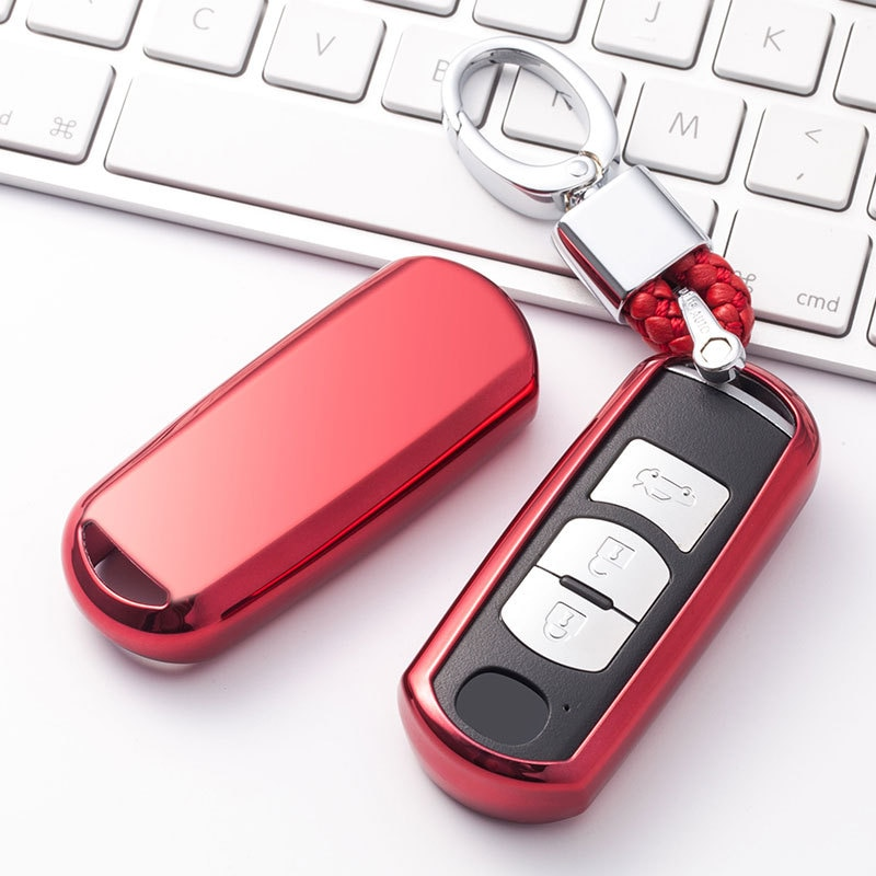 Funda protectora suave de TPU resistente al desgaste para llave de coche para Mazda 6 CX-5 Atenza CX-7 CX-9 MX5 626 llavero sin llave