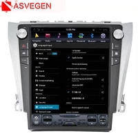 asvegen 10 4 inch vertical screen android 7 1 quad core car multimedia dvd player stereo radio for toyota camry 2012 2016