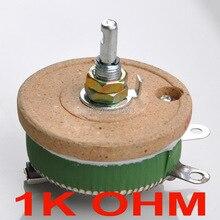 50W 1K OHM High Power Wirewound Potentiometer, Rheostat, Variable Resistor, 50 Watts.