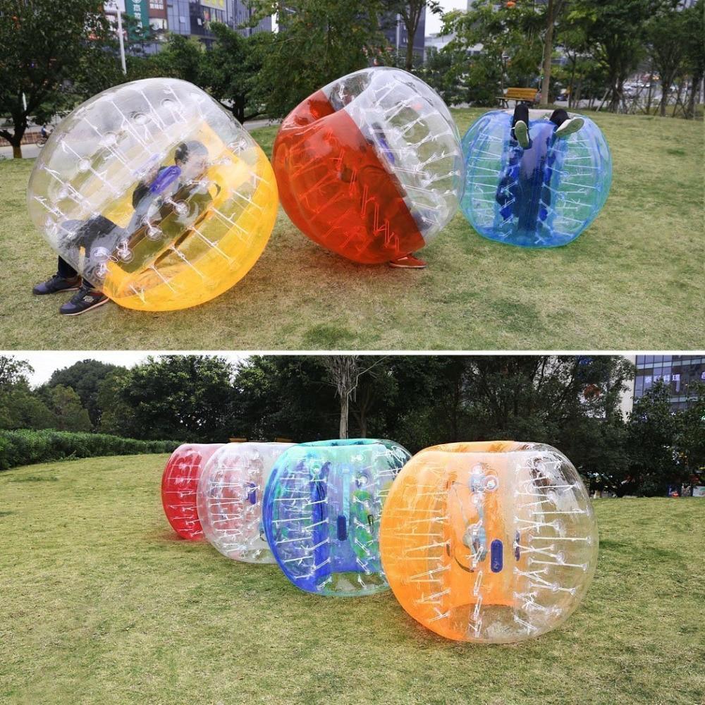 Envío Gratis 5m (1,5 ft) inflable pelota de choque de fútbol de Aufblasbar Spiel Rasen Farbeauswahl pelota humana inflable