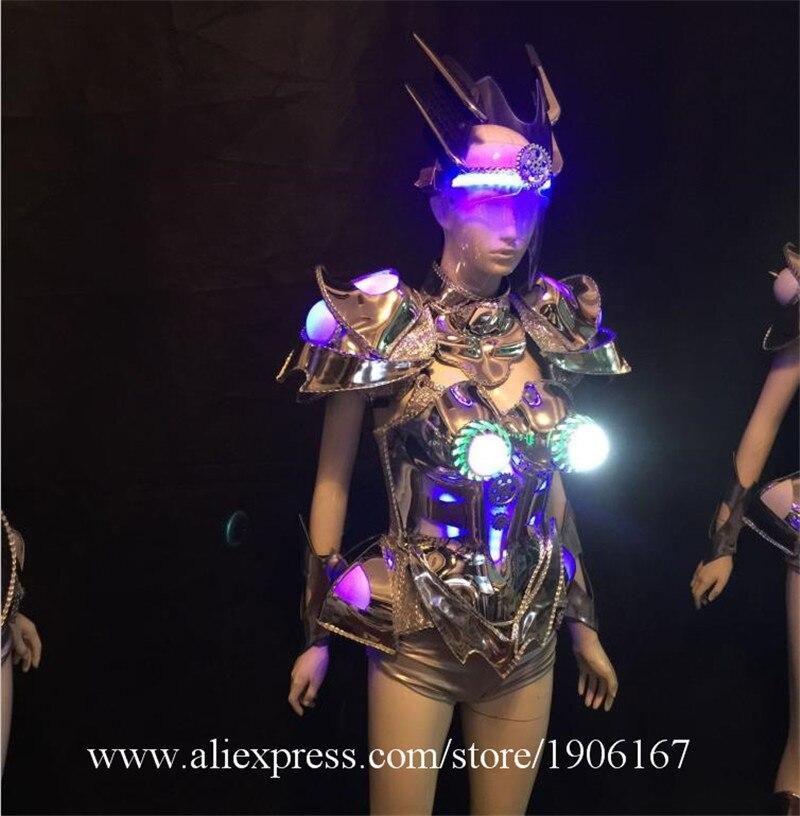 Светящееся сексуальное женское вечернее платье, светодиодная одежда, модель автомобиля с подсветкой, сценические светодиодные костюмы роб...