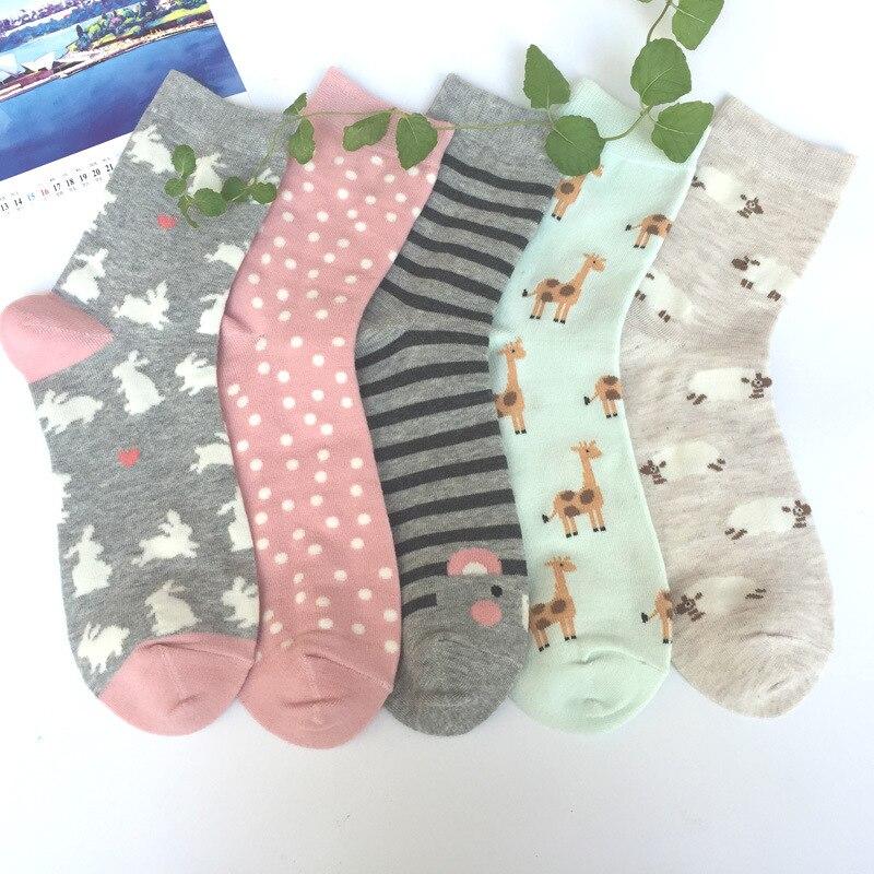 Nuevos calcetines Divertidos con estampado de dibujos animados para mujer nuevos calcetines de moda de Japón