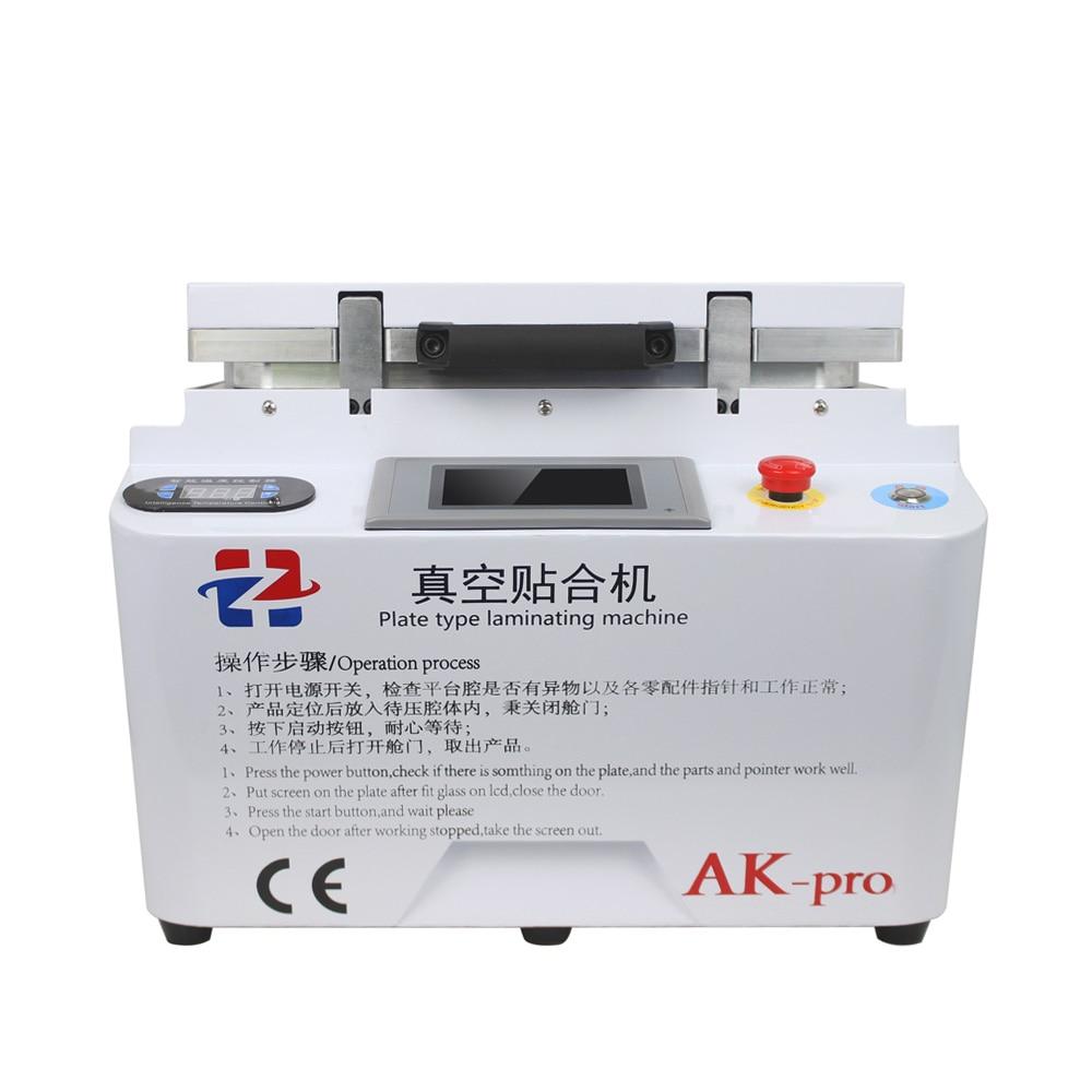 Automatic Vacuum Laminating Machine HZ AK-pro 2 In 1 Bubble Remover Machine Built-in Pump For Phone Samsung Repair Renovation