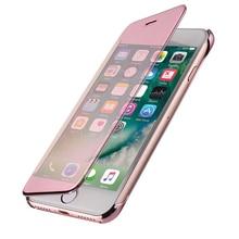 Lujosa carcasa trasera de acrílico con tapa carcasa para iPhone 6s 5S 6 5 s SE X 8 7 Plus 6Plus 6splus 7 Plus 8Plus transparente cobertura completa 360
