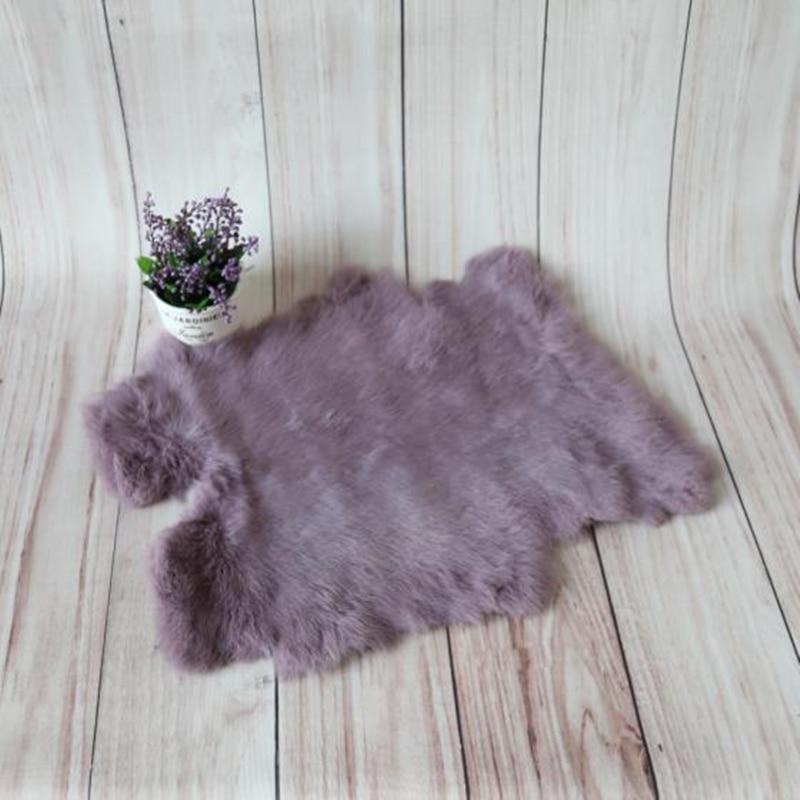 Newborn Rabbit fur blanket Baby basket stuffer filler Faux fabric layer backdrop Newborn Photography Props