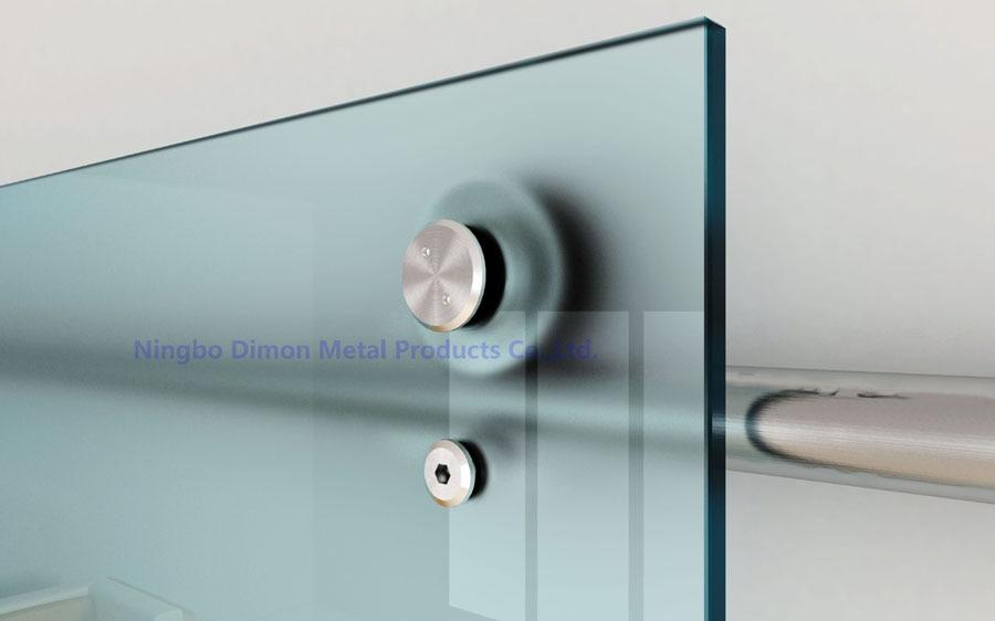Herrajes de puerta de acero inoxidable Dimon, herrajes de puerta corredera de cristal, rueda colgante, herrajes de puerta corredera de estilo americano DM-SDG 7004