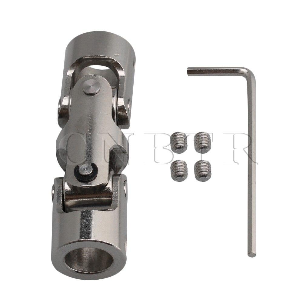 CNBTR connecteur universel de moteur à Joint   10mm-10mm ID 16mm OD 45 # en acier à trois sections, axe de couplage à Joint avec clé hexagonale