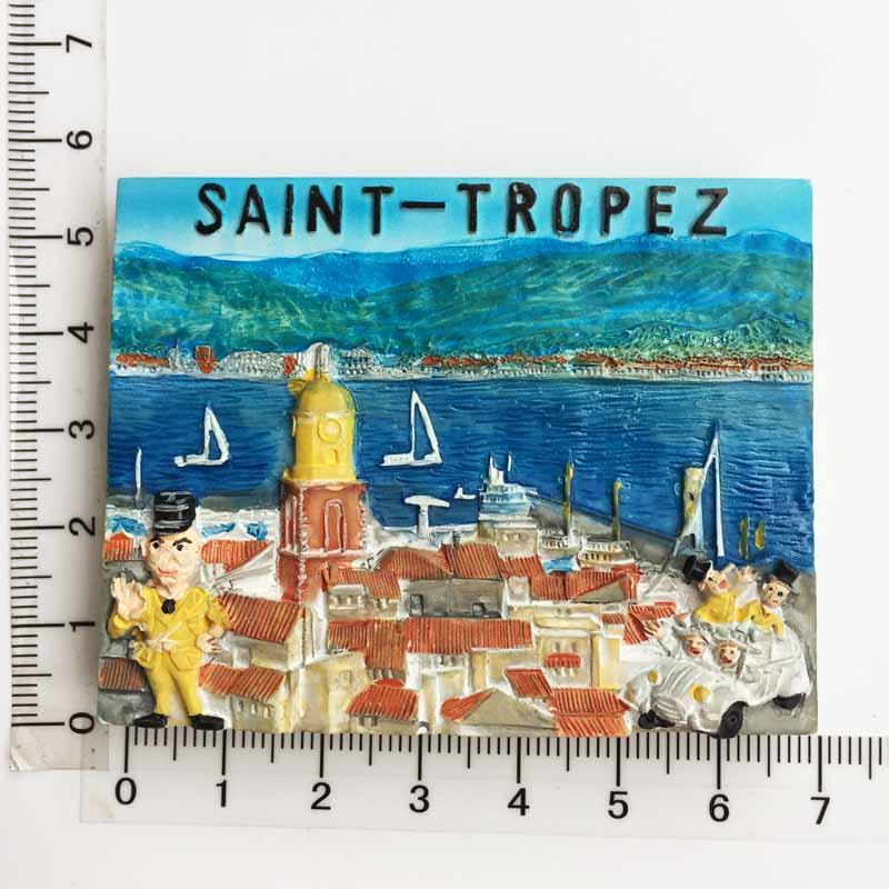Французский прованс Кот д 'азюр Vale Saint Tropez трехмерные декорации туристские сувенирные наклейки на холодильник