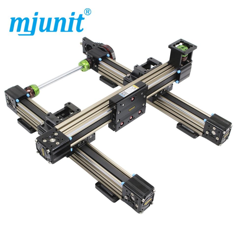 Mjunit-قضيب توجيه للوحدة الخطية متزامنة 45N ، مع كتلة منزلقة ، حمولة خفيفة عالية السرعة ، محور مزدوج ، قابل للتخصيص