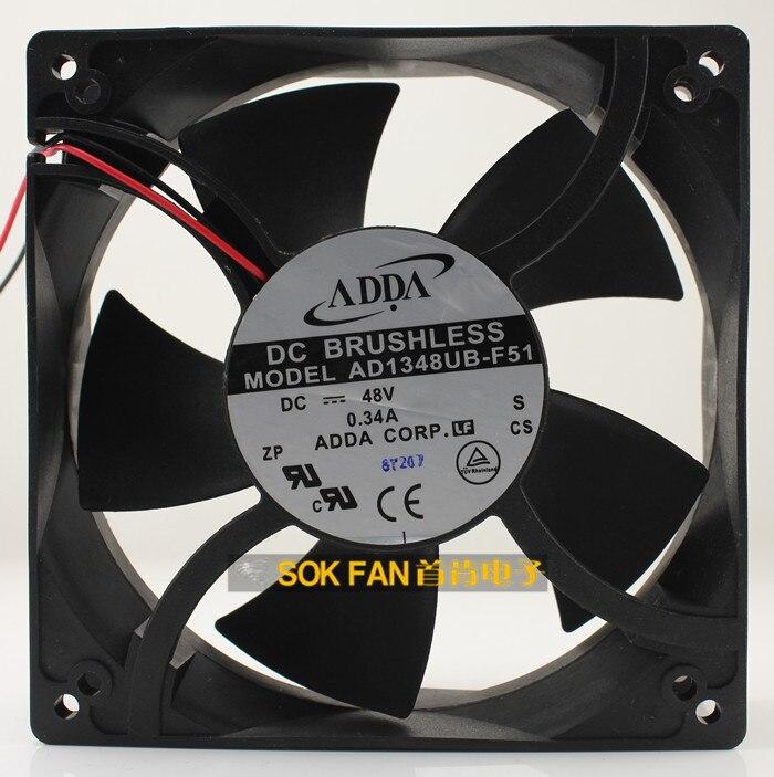 جديد ADDA 12738 DC48V 0.34A AD1348UB-F51 التردد مروحة التبريد