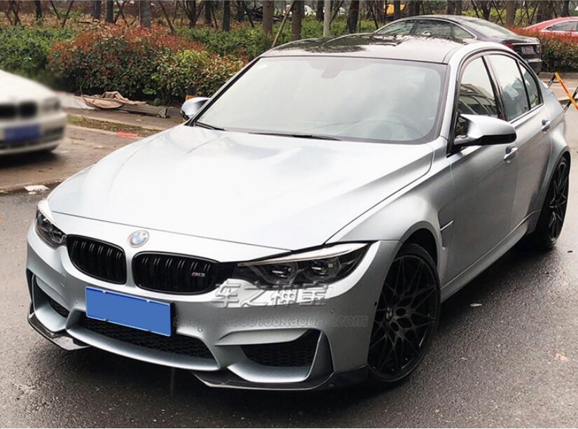 2 uds de fibra de carbono labio delantero parachoques alerón para BMW F80 F82 F83 M3 M4 2014, 2015, 2016, 2017, 2018 por EMS