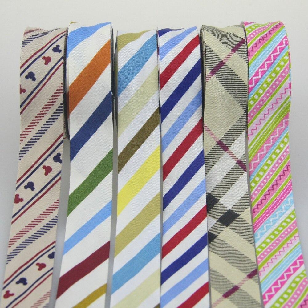"100% Cotton Bias Binding Tape Folded Trim Ribbon 25mm,1"" 10meter printed Star Flowers DIY Sewing Accessories Various Colour"