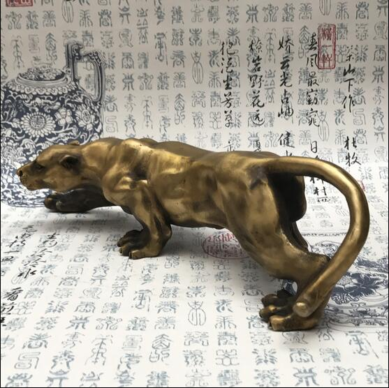 Leopard ready to leopard ornaments Art sculpture collection Copper crafts furnishings