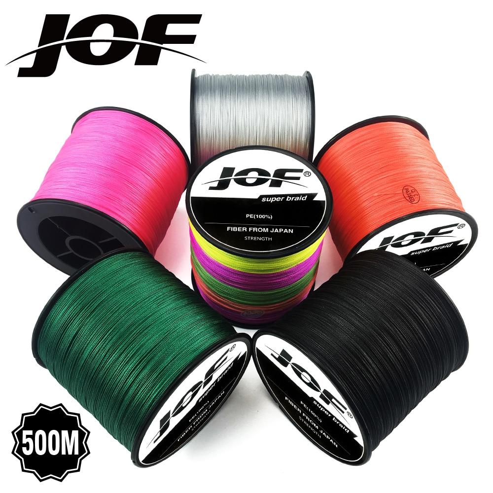 JOF venta al por mayor 500 metros x8 trenzado sedal 6 colores Super PE Line