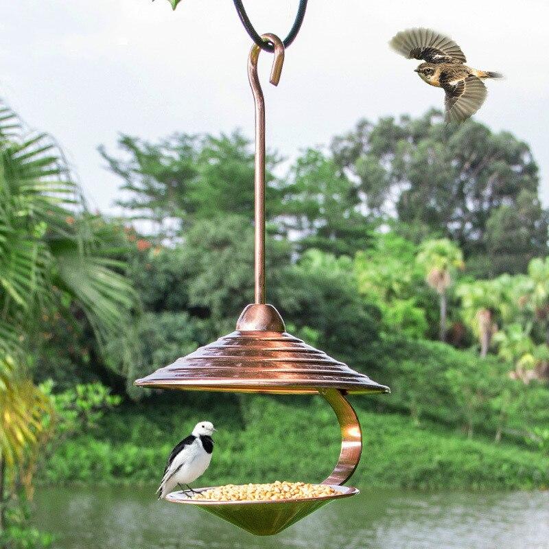 Creativo pájaro suministros villa para exteriores balcón comida de aves pájaro de comedero de metal de corte automático de WF4031938