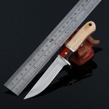 Couteaux à manche en bois, aiguisage à froid couteaux à lame couteau de poche de survie en camping chasse en plein air tactiques portables outils EDC
