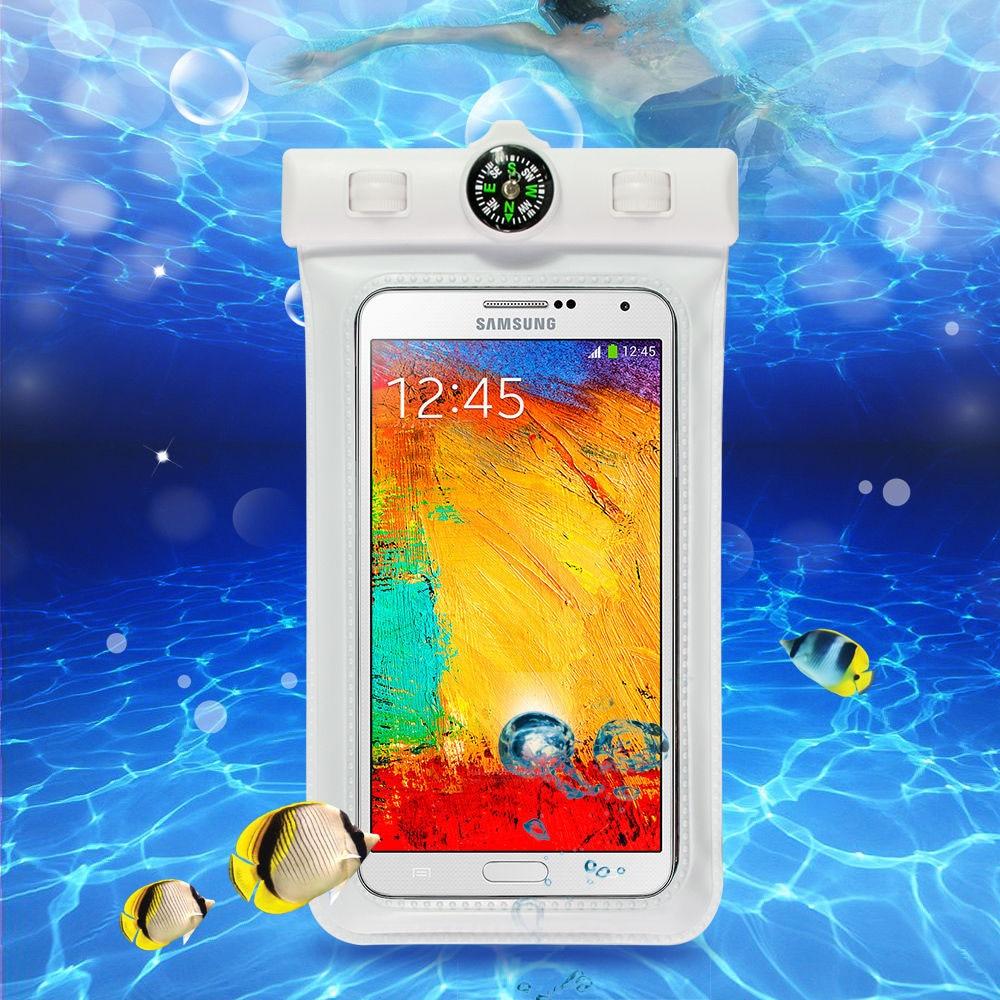 VBNM Universal impermeable de la bolsa del teléfono celular cubierta de la piscina bolsa con brújula cinturón de brazo para iPhone 6 7 Plus S6 7 3 4 5 8