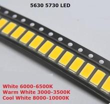 200 sztuk SMD 5730 dioda biała SMD5730 0.5W LED 5630 6000k 6500k Super jasny układ SMD5630 5730SMD 150mA PCB SMT dioda emitująca