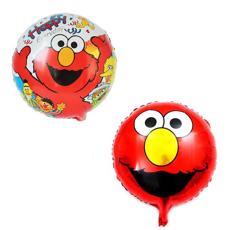 18 дюймов Круглый Стиль Улица Сезам фольга шары эльмо шары с днем рождения украшения гелиевые глобусы надувные игрушки поставки