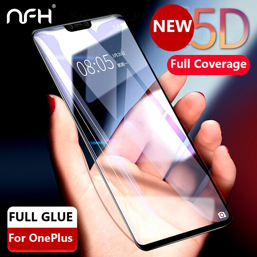 Pantalla de cobertura completa de vidrio templado 5D 3nd Gen 4D para Oneplus 5T One Plus 6T 9H Protector de película protectora para Oneplus 5 6