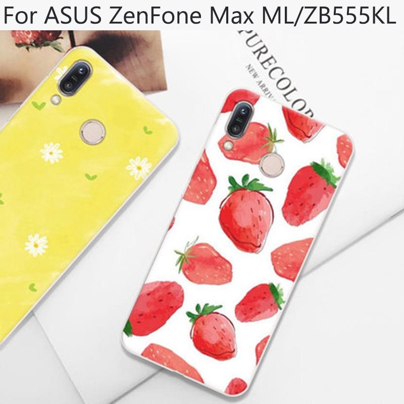 Fundas para ASUS ZenFone Max ML, funda, Fundas de teléfono suave con caricaturas bonitas para ASUS ZenFone ZB555KL, funda trasera, Fundas
