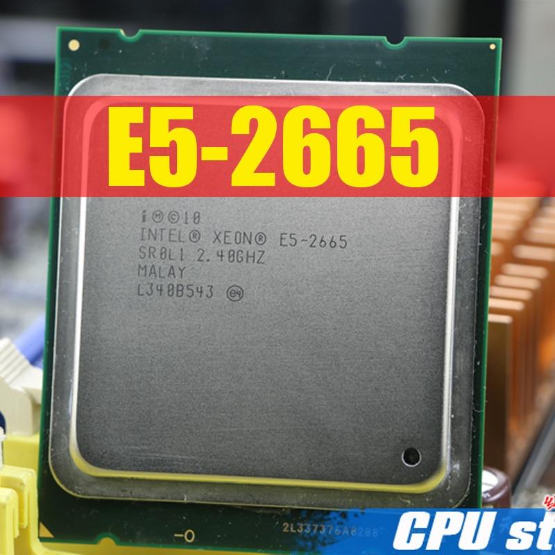 Envío Gratis procesador Intel Xeon E5-2665 C2 SR0L1 20M Cache/2,4/GHz/8,00 GT/s E5 2665 LGA 2011 E5 2650 vender E5 2670 CPU 2660