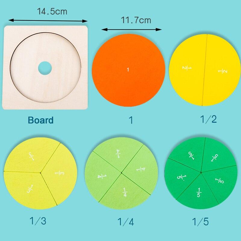 Tablero de división de matemáticas circulares para preescolar, material didáctico Montessori, juguete educativo para matemáticas, herramienta de aprendizaje para niños