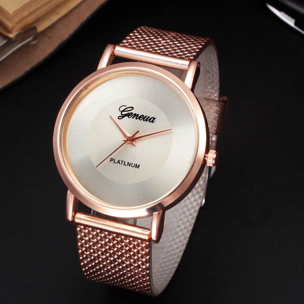 Clásico mujeres reloj de silicona de la correa de malla de reloj de pulsera de cuarzo, relojes para las mujeres personalidad única de moda relogio femenino F4