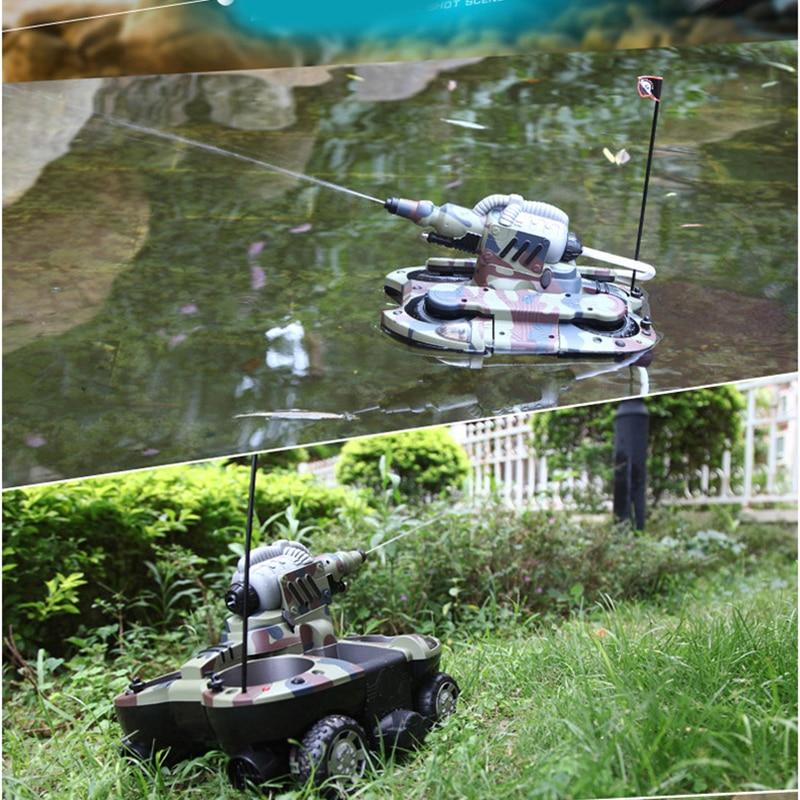 Rc Boat Tank Amphibious Radio Control Toys For Boys 10 Years Children Rc Ship Robotic Remote Control Boat Tank Plastic Drop Ship enlarge