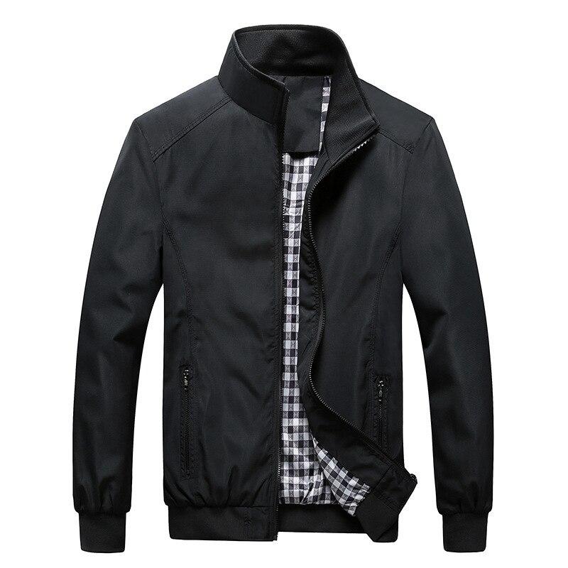 Качественная однотонная Повседневная куртка-бомбер, мужская верхняя одежда на весну и осень, спортивная одежда мандарина, мужские куртки для мужчин, пальто, M-5XL, 6XL, 7XL