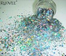 Forme holographique de poudre de Paillette dhexagone de mélange de paillettes dongle de couleur argentée de Laser pour la décoration dartisanat de scintillement dart dongle