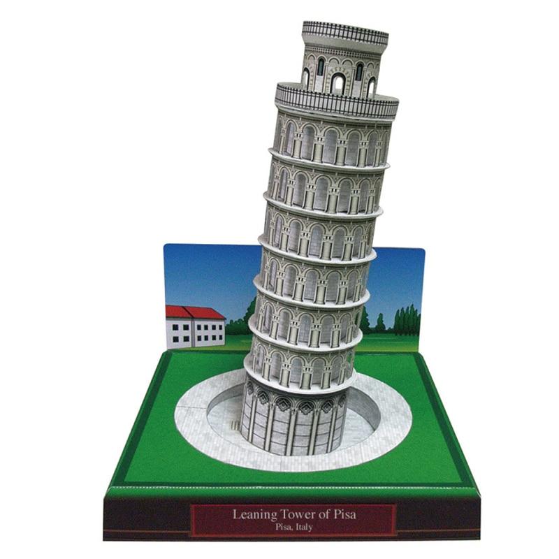 Пизанская башня, италианская Ремесленная Бумажная модель 3D, архитектурное строительство, Обучающие игрушки ручной работы, игра-головоломк...