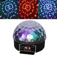 Mini Popular 27W Led Crystal Magic Ball Stage Effect Lighting Lamp Party Disco Light Soundlights Spotlight
