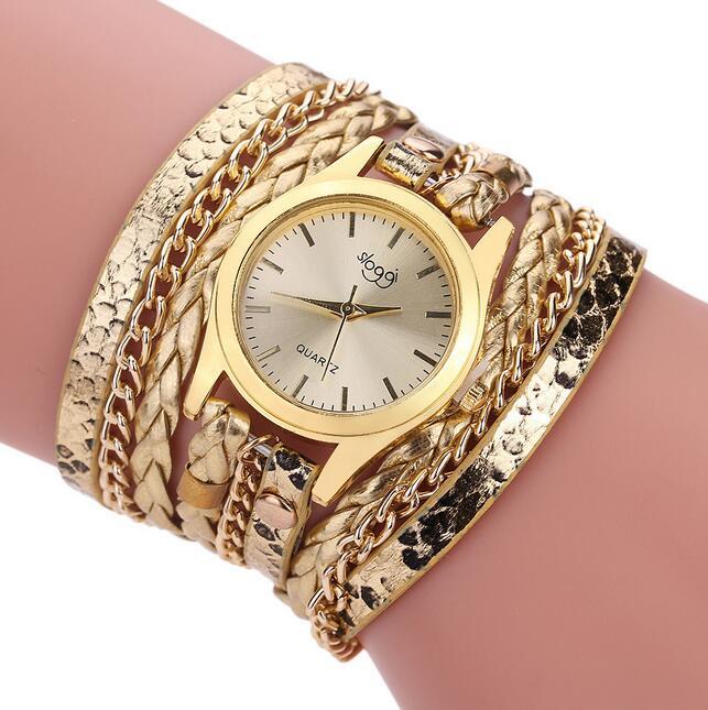 New Luxury Brand Leather Quartz Watch Women Ladies Casual Fashion Bracelet Wrist Watches Clock braid