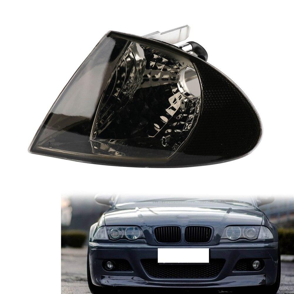 Luz de curva ahumada derecha TAIHONGYU indicador de señal de estacionamiento adecuado para BMW Serie 3 E46 1998 1999 2000 2001